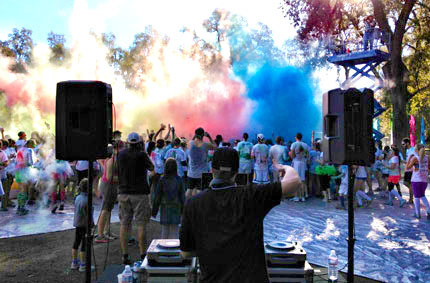 Elite Sounds DJs playing music for a paint party